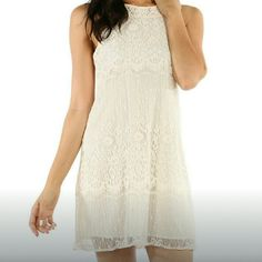 HP  Lace Dress Delicate, feminine, and you will definitely get a second glance. You can work it with a blazer and boots or glam it up with a necklace and heels. So many options for this beautiful dress!!! Dresses Mini