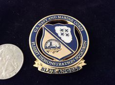 BLUE ANGELS FLIGHT DEMO SQUADRON CPO USMC Challenge Coin. NAVY CHIEF!! Mint!!