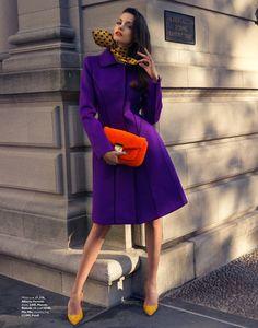 autumn coats5 Sofia Resing Models Bright Fall Looks for Grazia UK by Asa Tallgard