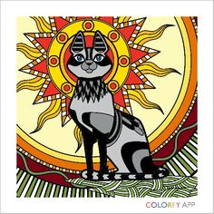 My Colorfy Egyptian Cat