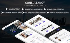 Consultancy Email Newsletter Template Email Templates, Newsletter Templates, Mozilla Thunderbird, Online Email, Campaign Monitor, Responsive Email, Aol Mail, Web Design Software, Email Client
