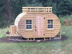 Woodworking For Kids Happy Camper Playhouse Plan