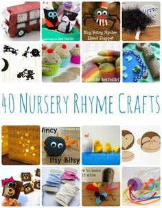 40 Nursery Rhyme Crafts - a wonderful set of crafts to go with your favourite nursery rhyme - really bring them to life. Great for any primary school or preschool!