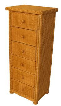 6 Drawer Wicker Lingerie Chest via @wickerparadise #white #brown #chest #wicker #storage www.wickerparadise.com