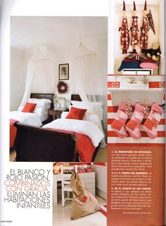christmas at the Chic shack Owners/founders London Home,article featured on the Elle Deco Spain,Magazine.