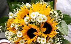 girasole bouquet margherite1 Matrimonio con i girasoli
