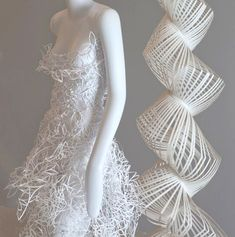 Paper+Dresses | Paper dress by first place winner Dana Otto (Industrial Design '11)