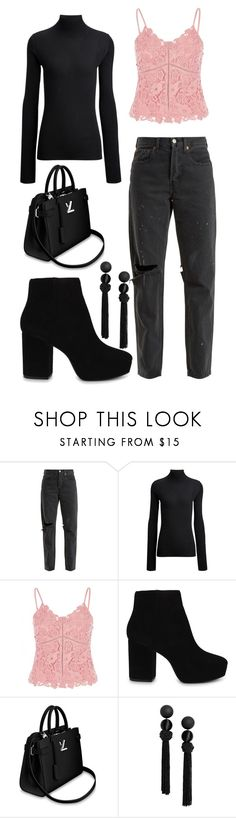 """lace."" by eboony800 ❤ liked on Polyvore featuring RE/DONE, Joseph, River Island and ALDO"