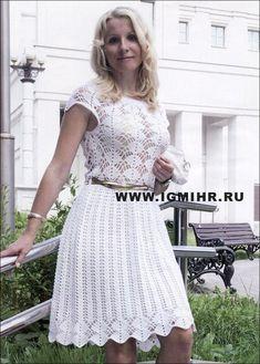 Нарядное белое платье с роскошным ажуром. Крючок. Обсуждение на LiveInternet - Российский Сервис Онлайн-Дневников