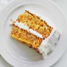 Ginger Carrot Cake The light and fluffy frosting for this luscious layer cake recipe is a mixture of cream cheese and whipping cream.