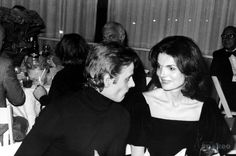 Russian dancer, choreographer, and actor MIKHAIL BARYSHNIKOV often cited as one of the greatest ballet dancers in history with Jackie KENNEDY ONASSIS.  (1979)