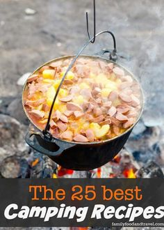 How to Cook Over an Open Fire is part of Best camping meals - Camping season is almost here! Learn how to cook over an open fire while camping! It's a great skill for preppers to have too! Plus an awesome campfire chicken recipe! Dutch Oven Cooking, Dutch Oven Recipes, Cast Iron Cooking, Open Fire Cooking, Camping Hacks With Kids, Best Camping Meals, Camping Ideas, Backpacking Meals, Camping Cooking