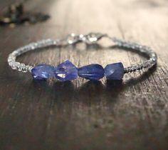 Iolite raw gemstone bracelet  Authentic par GenerosityDesigns Raw Gemstone Jewelry, Gemstone Bracelets, Boho Jewelry, Valentines Gifts For Her, Valentines Jewelry, Chakra Bracelet, Raw Gemstones, Minimalist Jewelry, Bracelet Designs