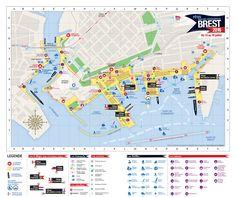 Plan des fêtes maritimes de Brest 2016