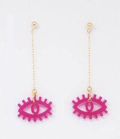 6b47bcab679 Evil eye laser cut earrings, Evil eye jewelry, Laser cut jewelry, Evil eye