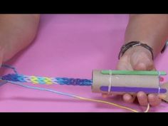 How to Make a Knitting Loom from a TP Tube | Sophie's World - YouTube