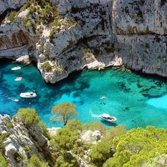les calanques, Cassis, France - I've never heard of this, but for the life of me I can't think of one good reason not to add this to my bucket list.