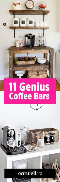 393 best Coffee Bar Ideas images on Pinterest | Coffee bar station ...
