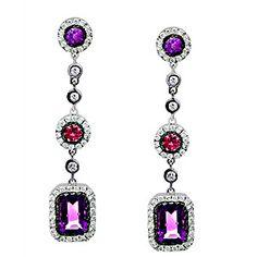 Stunning Designer Amethyst Earrings by Zeghani