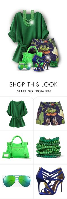 """""""Botanically Yours"""" by nonniekiss ❤ liked on Polyvore featuring Penfield, Balenciaga, Rosantica, Trilogy, Yves Saint Laurent, Ted Baker and Madison Parker"""