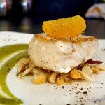 This is the halibut tapas from Café Latina in Stowe, Vt.  I haven't tried it yet, but I think it looks beautiful.