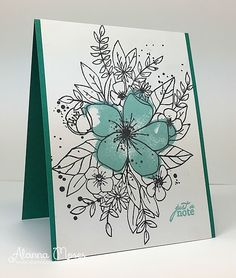 I have two cards to share with you today for TupeloDesignsLLC . All of my cards today use the absolutely beautiful Hello Lovely . Watercolor Birthday Cards, Watercolor And Ink, Concord And 9th, Card Making Inspiration, Flower Cards, Homemade Cards, Artsy, Sketches, American Women