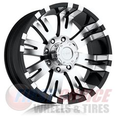Pro Comp Alloy Xtreme Alloys Series 8101 Gloss Black w/Machined Finish; Size Bolt Pattern in. Back Space in. [Available While Supplies Last]; Jeep Wheels, Truck Wheels, Black And Chrome Rims, Muscle Car Rims, Pro Comp, Truck Rims, Rims For Cars, All Terrain Tyres, Ford