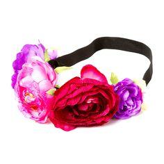 Berry Flower Garland Headwrap