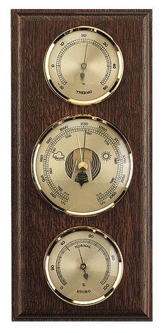 wooden Weatherstation Thermometer: DIA Barometer: DIA Hygrometer: DIA Size: x Made in Germany 2 Years Guarantee Germany, Clock, Weather, Watch, Deutsch, Clocks, Weather Crafts