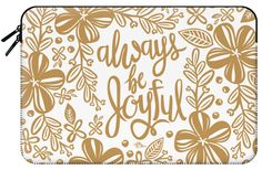 Casetify Macbook Pro 15 MacBook Tasche - Always Be Joyful - Gold by French Press Mornings French Press Mornings, Joyful, Macbook Pro, Tech Accessories, Casetify, Sleeves, Gold, Cap Sleeves