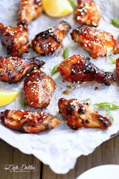 Sticky Honey Sesame Chicken Wings