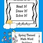 Use these Read It, Draw It, Solve It, word problems to teach simple word problems, to review word problems, or as an assessment piece.  There are 20 word problems in this packet. $ Math Story Problems, Word Problems, Math Classroom, Kindergarten Math, Fun Math Activities, Math Words, Book Cafe, Math Centers, Math Lessons