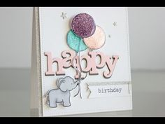 Glitter Birthday Card - YouTube