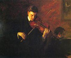 ArtArte Imagem Semanal: Violino http://arteseanp.blogspt.com Thomas Eakins (1871-1943) Music, 1904. Hedda van den  Beemy, violin and Samuel Meyers, piano. Nelson-Atkins Museum.