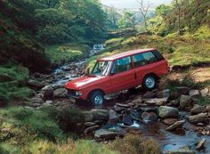 across the river in Range Rover Classic