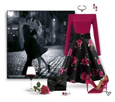 """""""~The Days of Wine & Roses~"""" by justwanderingon ❤ liked on Polyvore featuring Miss Selfridge, MANGO, Badgley Mischka, Victoria Beckham, BERRICLE, Oscar de la Renta, Holmegaard and couples"""