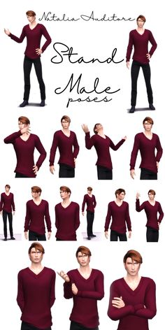 Official Post from Natalia-Auditore: 16 poses for high male sims, talking or not [for storytellers]with thumbnails Sims Four, Sims 4 Mm Cc, Boy Poses, Male Poses, Senior Portrait Poses, Male Portraits, Senior Pictures, Sims 4 Couple Poses, Sims 4 Stories