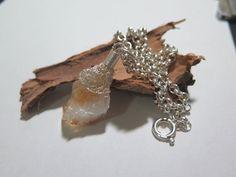 Raw Citrine necklace Gemstone Pendant necklace Silver by Viyoli