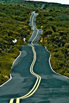 Drunk road. Mexico