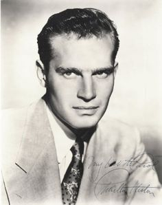 Charlton Heston......Uploaded by www.1stand2ndtimearound.etsy.com