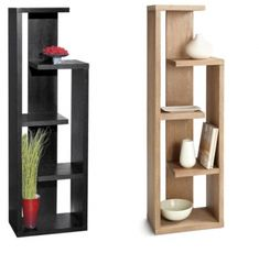 Our very popular Geneva bookcase in a lightly distressed driftwood finish or black. This distinct multi-level display case will make a statement in any room. Decor, Furniture Design, Wall Shelf Decor, Interior Deco, Home Room Design, Diy Furniture, Home Furniture, Home Decor, Diy Cardboard Furniture