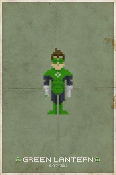 Comic Book Pixel Posters