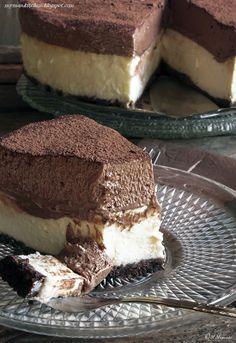 My man's kitchen...: Sernik z musem czekoladowym na Oreo spodzie