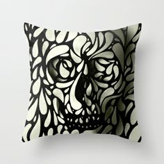 Skull Throw Pillow by Ali GULEC - $20.00 one of my favorite sites..........