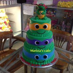 Ninja Turtle Baby Shower Cake. Visit Us Facebook.com/Marissau0027scake Or