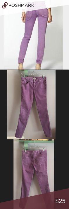 """Free People distressed purple skinny jeans Pretty purple/lavender skinny jeans by free People. Inseam 31"""". No flaws. Free People Jeans Skinny"""