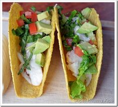 Fish and Avocado Tacos. These heart-healthy tacos are packed with nutrients and will be a new family favorite!