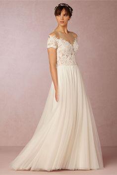 BHLDN Beau Gown in  Bride Wedding Dresses at BHLDN. #somethinggoldweddings