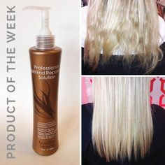 Lose the damage, not the length! Check out this amazing before and after featuring our new Professional Split End Repair Treatment. It only takes 10 minutes to reconstruct, repair and protect your fragile ends, so that you can keep your length and maintain the shape of your cut. The best part is that it lasts 4 weeks! Come in to try this amazing treatment!