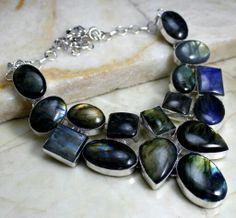 labradoriet silver necklace